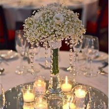 Picture of White table decoration