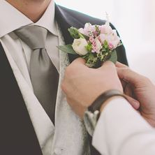 Picture of Buttonhole for groom/bestmen/father