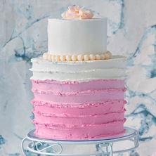 Obrázek Proužkovaný svatební raw dort