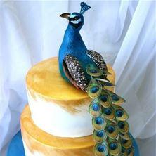 Obrázek Svatební dort páv