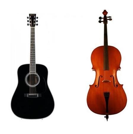 Picture of cello + guitar