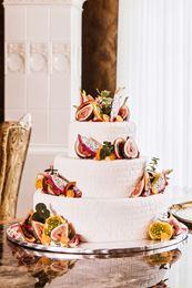 Obrázek z Svatební dort s tropickým ovocem