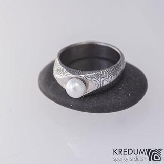 Obrázek z Zásnubní prsten Gracia a pravá říční perla