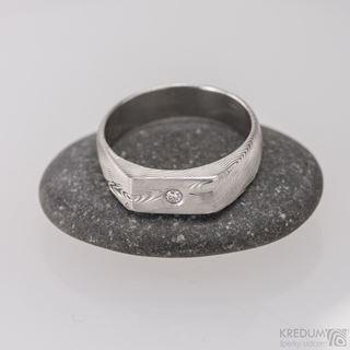 Obrázek z Zásnubní prsten Prolili a čirý diamant