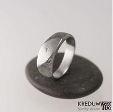 Obrázek Zásnubní prsten Intimity Slim a čirý diamant