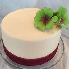 Obrázek Slonově bílý dort s čtyřlístkem