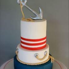 Obrázek Svatební dort námořnický