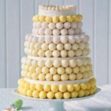 Obrázek Kuličkový svatební raw dort