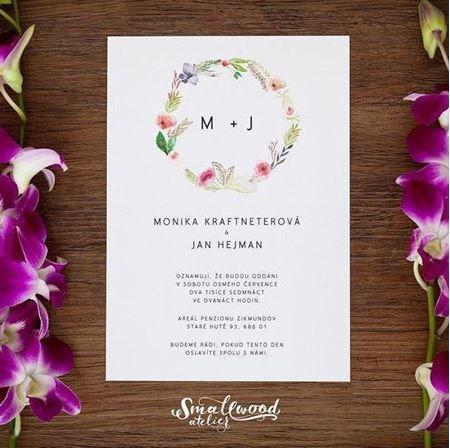 Obrázek z Svatební oznámení - Circle