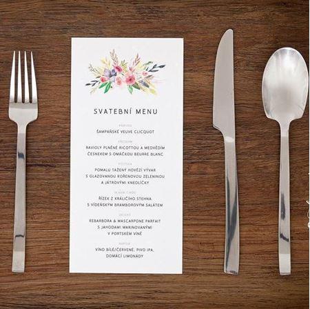 Obrázek z Svatební menu - Circle