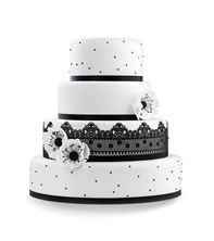 Obrázek Svatební dort Black & White