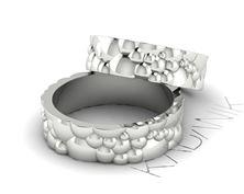Obrázek Snubní prsteny Bubbles