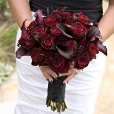 Obrázek Svatební kytice - Tmavé květiny