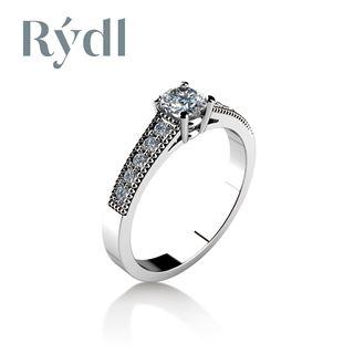 Obrázek z Zásnubní prsten LOVE 064 Platina