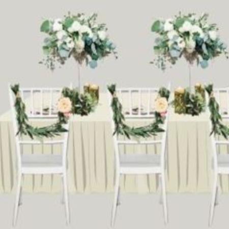 Obrázek z Květinová dekorace na židle