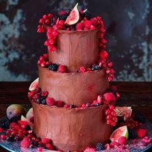Obrázek Čokoládový svatební raw dort
