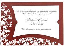 Obrázek Svatební oznámení Srdce