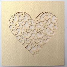 Obrázek Svatební oznámení Vyřezávané srdce