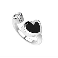 Obrázek Dámský prsten HEART Stříbro