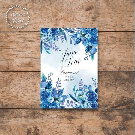 Obrázek z #16 Modré akvarelové květiny